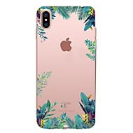 cheap Apple Accessories-Case For Apple iPhone X iPhone 8 iPhone 8 Plus Transparent Pattern Back Cover Tree Soft TPU for iPhone X iPhone 8 Plus iPhone 8 iPhone 7