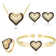 preiswerte -Damen Modisch Bling Bling Party Zirkon Rose Gold überzogen Aleación Kugel Armband Halskette Ohrringe Ring