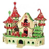 GDS-sæt 3D-puslespil Puslespil Puslespil og logisk tænkning legetøj Legetøj Borg Dyr 3D Huse Mode Børn Hot Salg Klassisk Mode Nyt Design 1