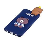 voordelige Galaxy S-serie hoesjes / covers-hoesje Voor Samsung Galaxy S8 Plus S8 Patroon DHZ Achterkant Panda 3D Cartoon Zacht TPU voor S8 Plus S8 S7 edge S7 S6 edge S6