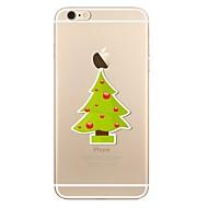 Кейс для Назначение Apple Прозрачный С узором Задняя крышка дерево Рождество Мягкий Термопластик для iPhone X iPhone 8 Plus iPhone 8