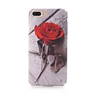 Недорогие Кейсы для iPhone 8-Кейс для Назначение Apple iPhone X iPhone 8 Матовое С узором Кейс на заднюю панель Цветы Твердый ПК для iPhone X iPhone 8 Pluss iPhone 8