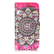 Недорогие Кейсы для iPhone 8-Кейс для Назначение Apple iPhone X iPhone 8 iPhone 8 Plus Бумажник для карт Кошелек со стендом Флип С узором Чехол Мандала Твердый Кожа PU