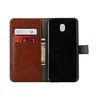 Case For Samsung Galaxy J3 (2017) J3(2016) Card Holder Wallet Flip Full Body Solid Color Hard PU Leather for J7 (2016) J7 (2017) J7 J5