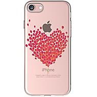Кейс для Назначение Apple iPhone X iPhone 8 iPhone 8 Plus Ультратонкий Прозрачный С узором Задняя крышка С сердцем Мягкий TPU для iPhone