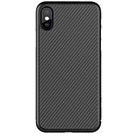 Недорогие Кейсы для iPhone 8-Кейс для Назначение Apple iPhone X iPhone 8 iPhone 8 Plus Ультратонкий С узором Кейс на заднюю панель Полосы / волосы Твердый Углеродное