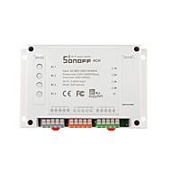 billige Daglige tilbud-sonoff® 4ch 4 kanals 10a 2200w 2.4ghz smart hjemme wifi trådløs bryter app fjernkontroll ac 90v-250v