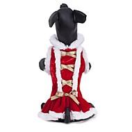 abordables Disfraces de Navidad para mascotas-Gato Perro Abrigos Vestidos Ropa para Perro Un Color Rojo Felpa Disfraz Para mascotas Fiesta Casual/Diario Cosplay Mantiene abrigado