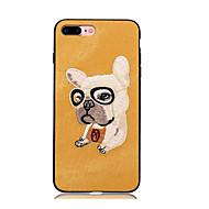 Недорогие Кейсы для iPhone 8 Plus-Кейс для Назначение Apple iPhone X iPhone 8 iPhone 8 Plus С узором Задняя крышка С собакой Твердый Текстиль для iPhone X iPhone 8 Plus