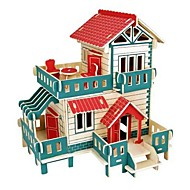 cheap Toys & Hobbies-3D Puzzles Jigsaw Puzzle Model Building Kits Wood Model Castle House 3D Animal Kids Hot Sale DIY Wood Christmas Houses Fashion New