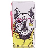 Case For Apple Ipod Touch5 / 6 Case Cover Card Holder Wallet with Stand Flip Pattern Full Body Case  Clothes Dog Hard PU Leather