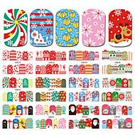 1 Nagelkunst sticker Patroon Accessoires Verzorging Art Deco/Retro Wateroverdracht Sticker Kerstmis Nieuwjaar Cartoon DHZ-benodigdheden