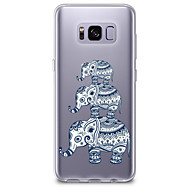 billige Etuier / covers til Galaxy S-modellerne-Etui Til Samsung Galaxy S8 Plus S8 Transparent Mønster Bagcover Elefant Blødt TPU for S8 Plus S8 S7 edge S7 S6 edge plus S6 edge S6 S6