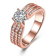 ieftine Bijuterii&Ceasuri-Pentru femei Cristal Band Ring Inel de logodna - Zirconiu, Aliaj Inimă 6 / 7 / 8 / 9 Roz auriu Pentru Nuntă Petrecere Zi de Naștere