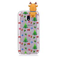 hoesje Voor Samsung Galaxy J7 (2017) J5 (2017) Patroon DHZ Achterkantje 3D Cartoon Kerstmis Zacht TPU voor J7 (2016) J7 (2017) J5 (2016)