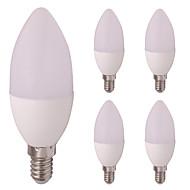 お買い得  LED キャンドルライト-5個 3W 260lm E12 / E14 LEDキャンドルライト E14 / E12 6 LEDビーズ SMD 2835 温白色 クールホワイト 12V