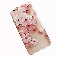 Недорогие Кейсы для iPhone 8-Кейс для Назначение Apple iPhone 8 iPhone 7 С узором Кейс на заднюю панель Цветы Мягкий ТПУ для iPhone 8 Pluss iPhone 8 iPhone 7 Plus