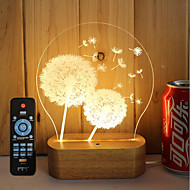 abordables Lámparas LED Novedosas-1 juego Luz nocturna 3D Regulable / Luz LED / Decorativa 5 V Artístico / LED / Moderno / Contemporáneo