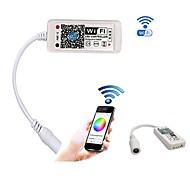 Χαμηλού Κόστους Χειριστήρια RGB-2pcs μίνι wifi οδήγησε rgb ελεγκτή με dc θηλυκό από smartphone ελέγχου για smd 5050 2835 rgb οδήγησε ταινία φως dc5-28v