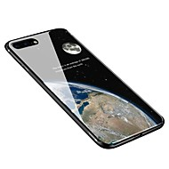 Недорогие Кейсы для iPhone 8 Plus-Кейс для Назначение Apple iPhone X / iPhone 8 Plus С узором Кейс на заднюю панель Цвет неба Мягкий Закаленное стекло для iPhone X / iPhone 8 Pluss / iPhone 8