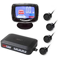 kit sensore parcheggio auto ziqiao® con 4 sensori 22mm cicalino display lcd auto backup radar inverso allarme sistema di allarme