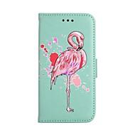 Кейс для Назначение SSamsung Galaxy S8 Plus S8 Кошелек Бумажник для карт со стендом Флип С узором Чехол Фламинго Твердый Искусственная