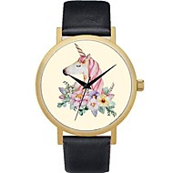 Dames Kinderen Vrijetijdshorloge Modieus horloge Unieke creatieve horloge Chinees Kwarts Chronograaf Leer Band Bloem Informeel Bohémien