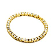 Men's Women's Chain Bracelet Bracelet Rhinestone Classic Casual Fashion Hiphop Cool Alloy Geometric Four Prongs Jewelry For Daily Going
