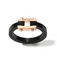 cheap Editor's Picks-Women's Band Ring - Rose Gold Plated Korean, Fashion 6 / 7 / 8 / 9 / 10 Black For Daily Date