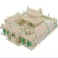 お買い得  おもちゃ & ホビーアクセサリー-3Dパズル ジグソーパズル ウッド模型 モデル作成キット ハウス型 ファッション 家 少林寺 クラシック ファッション 新デザイン 子供 ホット販売 ウッド 1pcs コンテンポラリー 子供用 ギフト