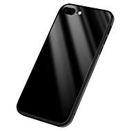 Недорогие Кейсы для iPhone 8-Кейс для Назначение Apple iPhone X Зеркальная поверхность Кейс на заднюю панель Сплошной цвет Твердый Силикон для iPhone X iPhone 8 Pluss