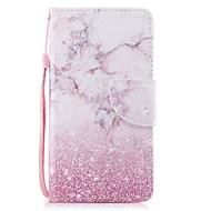 cheap iPod Accessories-Case For Apple Ipod Touch5 / 6 Case Cover Card Holder Wallet with Stand Flip Pattern Full Body Case  Pink Marble Hard PU Leather