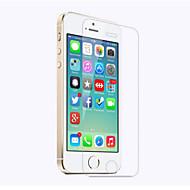Недорогие Защитные плёнки для экрана iPhone-Защитная плёнка для экрана для Apple iPhone SE / 5s / iPhone 5 / iPhone 5c Закаленное стекло 1 ед. Защитная пленка для экрана HD / Уровень защиты 9H / 2.5D закругленные углы