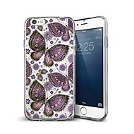 Недорогие Кейсы для iPhone 8 Plus-Кейс для Назначение Apple iPhone X iPhone 8 Plus С узором Кейс на заднюю панель Бабочка Мягкий ТПУ для iPhone X iPhone 8 Pluss iPhone 8