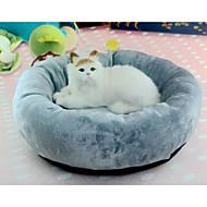 お買い得  ペット用品 & アクセサリー-ネコ / 犬 ベッド ペット用 クッション / 枕 ソリッド ソフト / 洗濯可 グレー ペット用