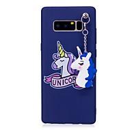Недорогие Чехлы и кейсы для Galaxy Note 8-Кейс для Назначение SSamsung Galaxy Note 8 IMD С узором Своими руками Кейс на заднюю панель единорогом Мягкий ТПУ для Note 8
