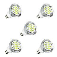 voordelige LED-spotlampen-5 stuks 3W 260-300 lm E14 LED-spotlampen E14 / E12 16 leds SMD 5630 LED Lamp Warm wit Wit AC 220-240V