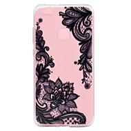 voordelige Telefoon hoesjes-hoesje Voor Huawei P8 Lite (2017) P10 Lite Transparant Reliëfopdruk Patroon Achterkantje Lace Printing Zacht TPU voor Huawei P10 Lite