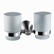 abordables Gadgets de Baño-Soporte para Cepillo de Dientes Modern Acero inoxidable 1 pieza - Baño del hotel