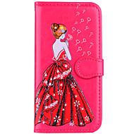 billiga iPhone 8 Plus och Plus-fodral-fodral Till Apple iPhone 8 iPhone 8 Plus Korthållare Lucka Mönster Läderplastik Sexig kvinna Glittrig Hårt för
