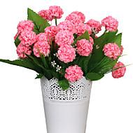 36cm 2 adet 8 baş / branşlı ortanca ev dekorasyonu yapay çiçekler