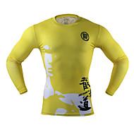Arsuxeo 男性用 ランニングTシャツ 速乾性 ライトウェイト 低摩擦 のために ランニング ヨガ サイクリング ボクシング エクササイズ&フィットネス フィットネス スパンデックス ポリエステル M L XL XXL