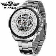 cheap Watch Deals-WINNER Men's Mechanical Watch Wrist watch Dress Watch Automatic self-winding Hollow Engraving Stainless Steel Band Luxury Vintage Casual