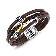 Men's Wrap Bracelet Casual Cool Leather Geometric Jewelry For Daily Formal