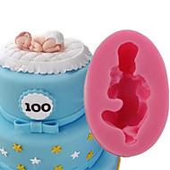 お買い得  キッチン用小物-ベークツール シリコーン 3D / DIY ケーキ / クッキー / パイ 3D / 漫画の形 / ベビースリーピング ケーキ型 1個