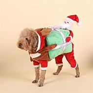 abordables Disfraces de Navidad para mascotas-Perro Disfraces Navidad Ropa para Perro Navidad Rojo Otros Materiales Plumón Disfraz Para mascotas Hombre Mujer Navidad