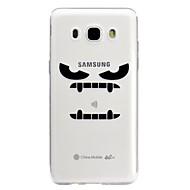 Недорогие Чехлы и кейсы для Galaxy J3(2016)-Кейс для Назначение SSamsung Galaxy J5 (2017) J3 (2017) Прозрачный С узором Рельефный Кейс на заднюю панель Мультипликация Мягкий ТПУ для