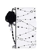 Недорогие Чехлы и кейсы для Galaxy Note-Кейс для Назначение Note 8 / Note 5 Кошелек / Бумажник для карт / со стендом Чехол Цветы Твердый Кожа PU для Note 8 / Note 5 / Note 4