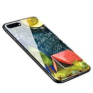 Недорогие Кейсы для iPhone 8 Plus-Кейс для Назначение Apple iPhone X iPhone 8 Plus С узором Кейс на заднюю панель Цвет неба Мягкий Закаленное стекло для iPhone X iPhone 8