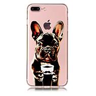 Недорогие Кейсы для iPhone 8-Кейс для Назначение Apple iPhone X iPhone 8 Plus Прозрачный С узором Кейс на заднюю панель С собакой Мягкий ТПУ для iPhone X iPhone 8